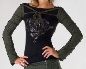 """Bolero: sleeves+hood \\\""""pecoa\\\"""" psylo, black"""
