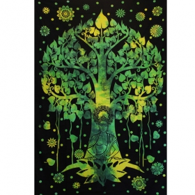 """Bouddha\'s Tree\"" hanging, Green and black"