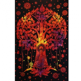 """Bouddha\'s Tree\"" hanging, Orange and black"