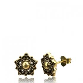 "Brass Earring \\\""Adirah\\\"""