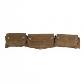 Brown leather money belt