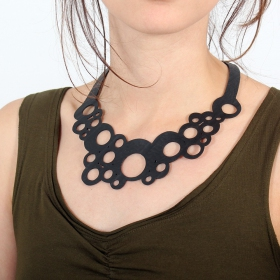 "\""Bubble\\\"" inner tube necklace"