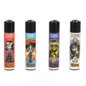 Calavera Catrina Mayas Clipper lighter