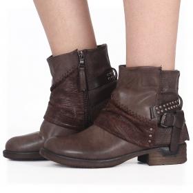 "\""Calywen\"" boots, Brown"