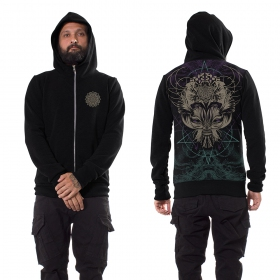 "\""Catster\"" zipped hoodie, Black"