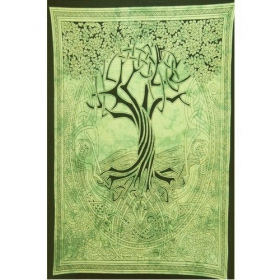 """Celtic Tree of Life\"" hanging, Green"