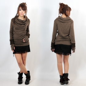"""Chayan\"" Sweater top, Mole"