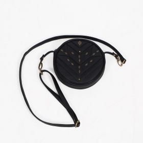 """Chi\"" purse, Black faux leather"
