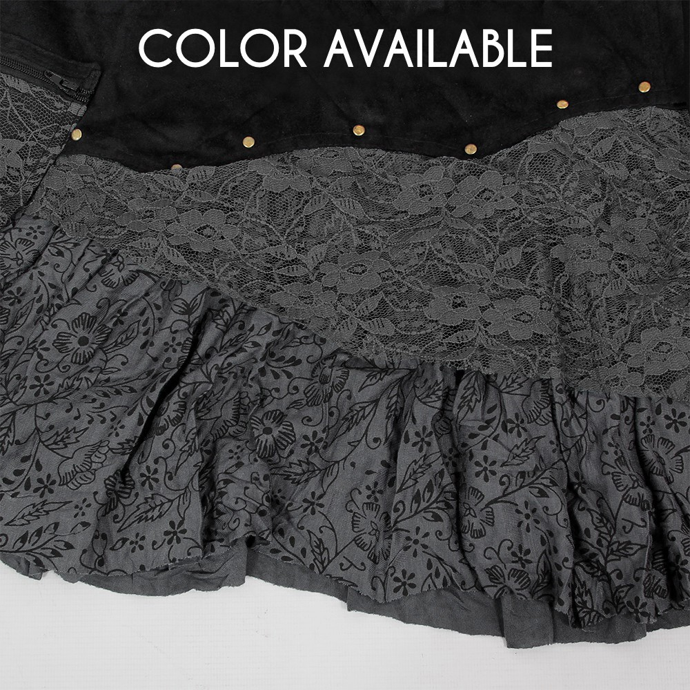 """Chimey"" skirt, Black and grey"