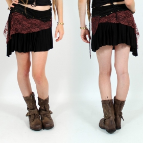 """Chimey\"" skirt,Plain black brown"