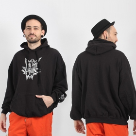 """Chrome headface\"" Heretik hoodie, Black"