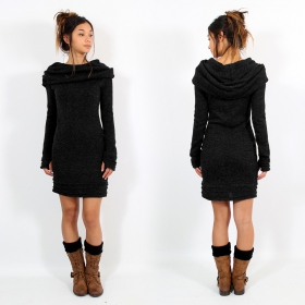 """Chryzalide\"" pullover dress, Black"