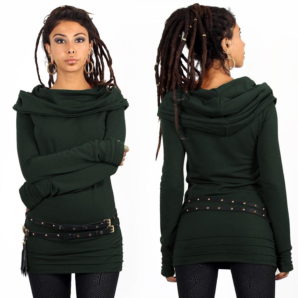 "\""Chryzalide\"" sweater, Teal"