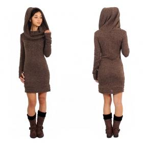"\""Chryzalide\"" sweater dress, Brown"