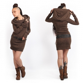 """Chryzalide\"" sweater dress, Brown"