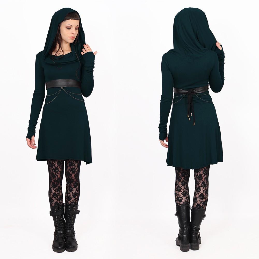 "\""Chryzz\"" dress, Dark teal"