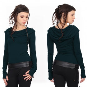 """Chryzz\"" top, Dark teal"