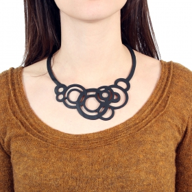 """Circular\"" inner tube necklace"