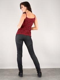 "\""Ciryandil Peafowl\"" shoulder strap top, Red"