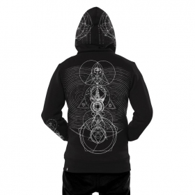 """City Zen\"" zipped hoodie, Black"