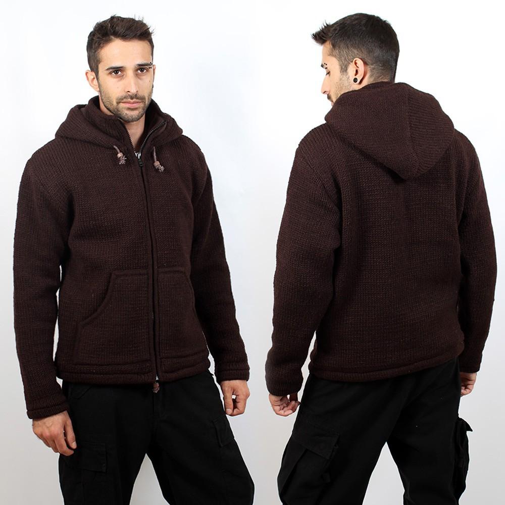 "Coat \\\""omkar wool and fleece\\\"", brown size xl"