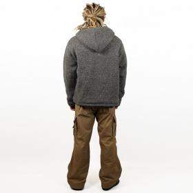 "Coat Macha \""Omkar Wool and Fleece\"", Darkgrey"