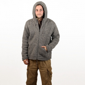 "Coat Macha ""Omkar Wool and Fleece\"", Light grey"