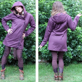 "Coat saï wear \""drubina\\\"", plum-black"