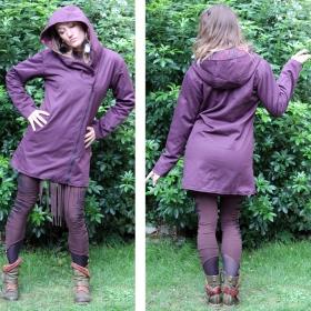 "Coat saï wear \\\""drubina\\\"", plum-black"