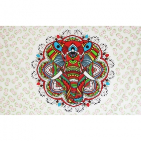 """Colourful elephant mandala\"" hanging"