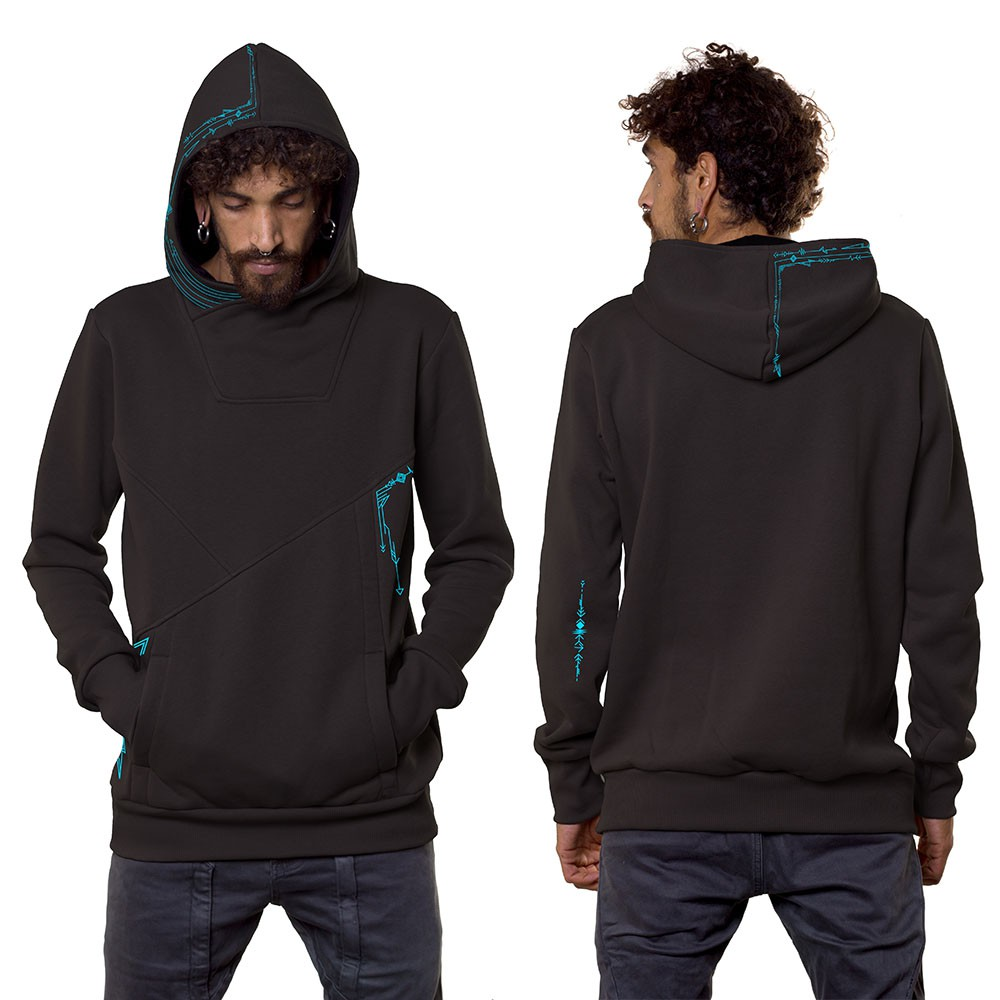 """Connect\"" hoodie, Dark grey"
