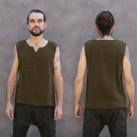 "\""Core Ninja Twill\"" tank top, Khaki green"