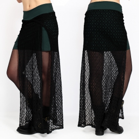"""Creature\"" crochet skirt, Dark teal"
