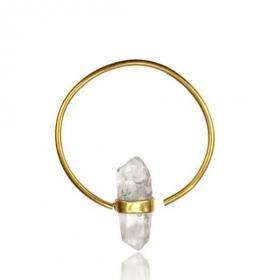 "\""Crystal\"" brass ear jewel"