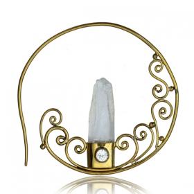"\""Crystallized\"" ear jewel"