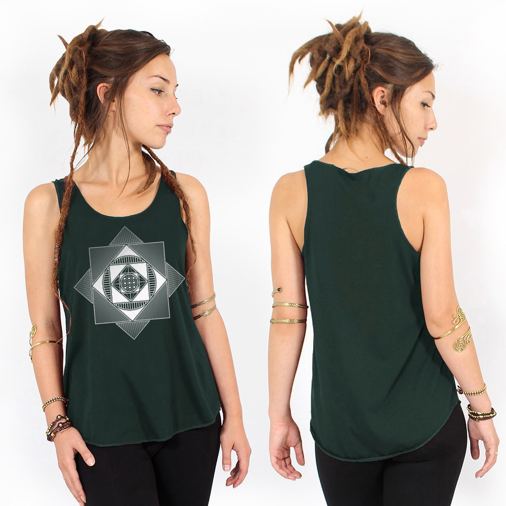 """Cube Spiral\"" tank top"
