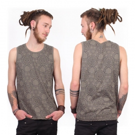 """Cubik\"" tank top, Grey"
