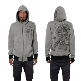 """Cubina\"" zipped hoodie, Light grey"