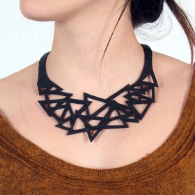 """Cubism\"" inner tube necklace"