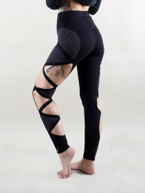 """Daena\"" leggings, Grey and black"