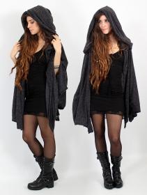 "\""Danae\"" hooded cape, Grey"