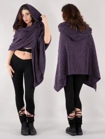 "\""Danae\"" hooded cape, Purple"