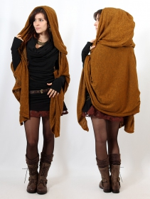 """Danae\"" hooded cape, Rusty"