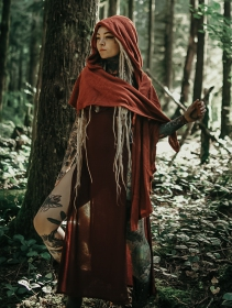 "\""Danae\"" hooded cape, Sienna"