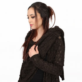 """Danaeriz\"" crochet shawl, Brown"