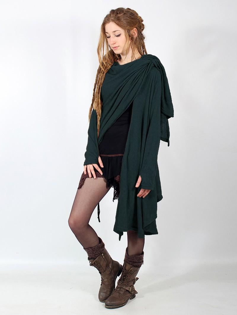"\""Danaeriz\"" thin shawl, Teal"