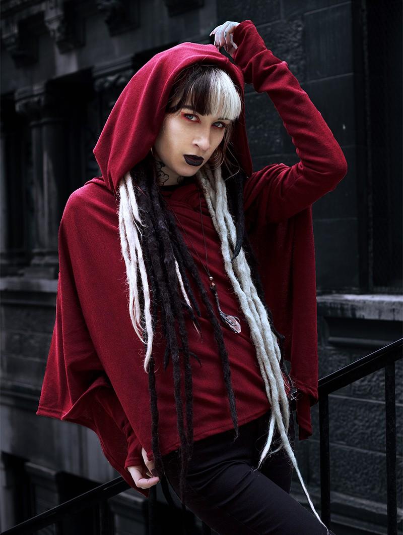 "\""Danaeriz\"" thin shawl, Wine"