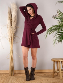"""Dark\"" sweater dress, Wine"