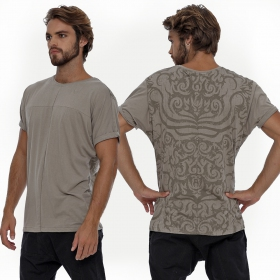 """Dayak\"" T-shirt, Grey beige"