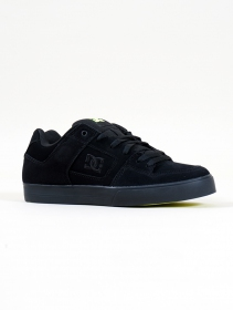 DC Shoes Pure , Black and lemon leather